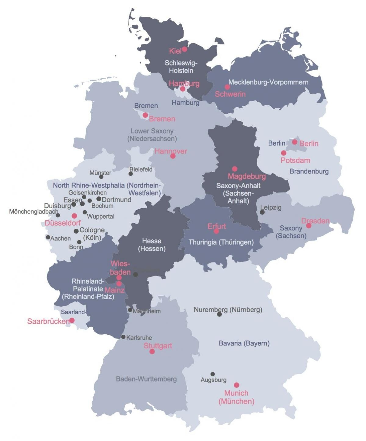 Map Of Germany With Cities - Germany Main Cities Map (Western Europe inside Germany Map Main Cities