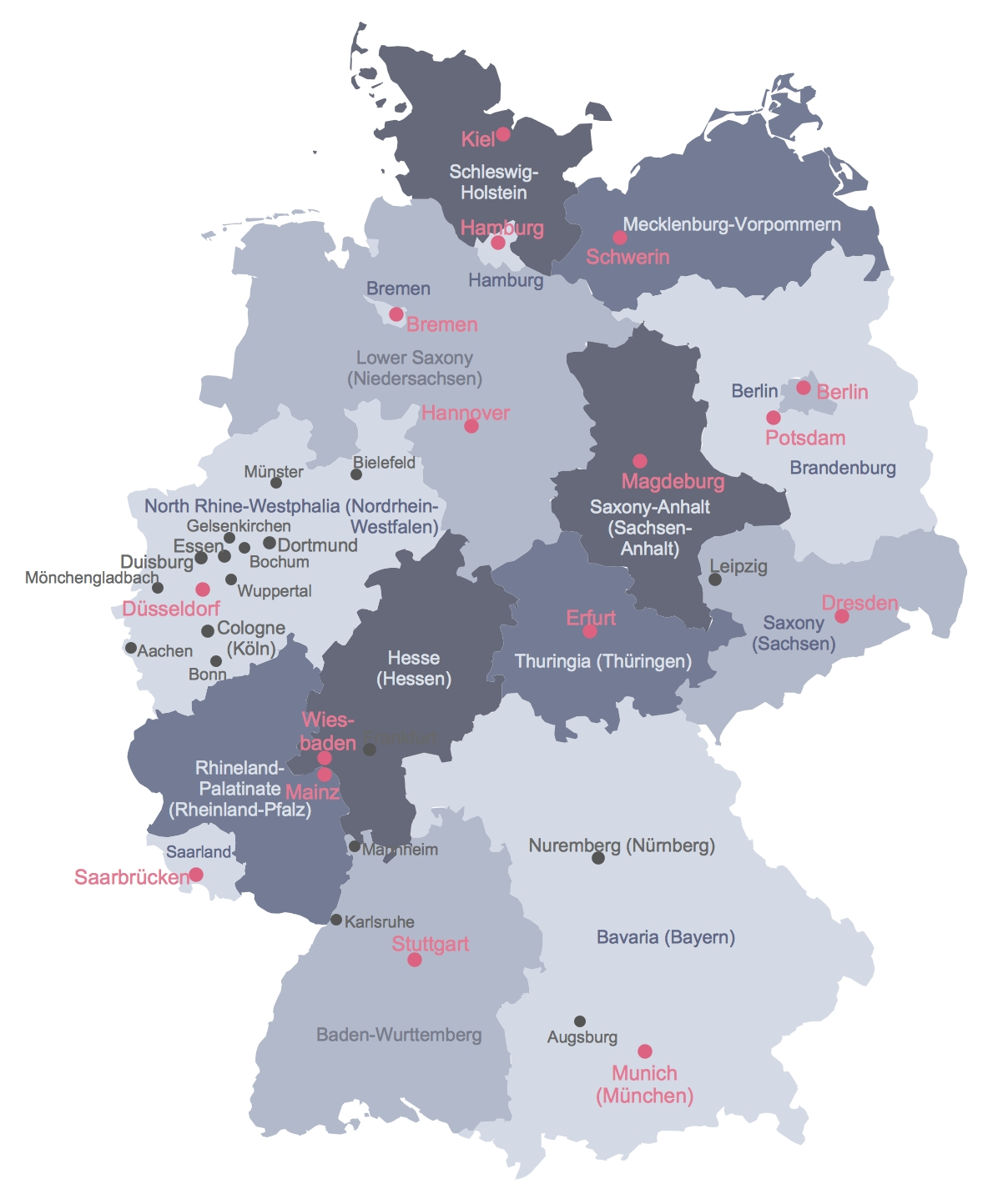 Map Of Germany within Map Of Germany With Major Cities