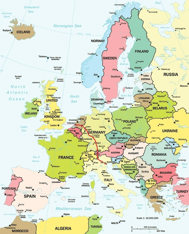 Map Of Italy Germany And Austria | Download Them And Print inside Map Of Europe Germany Austria Switzerland