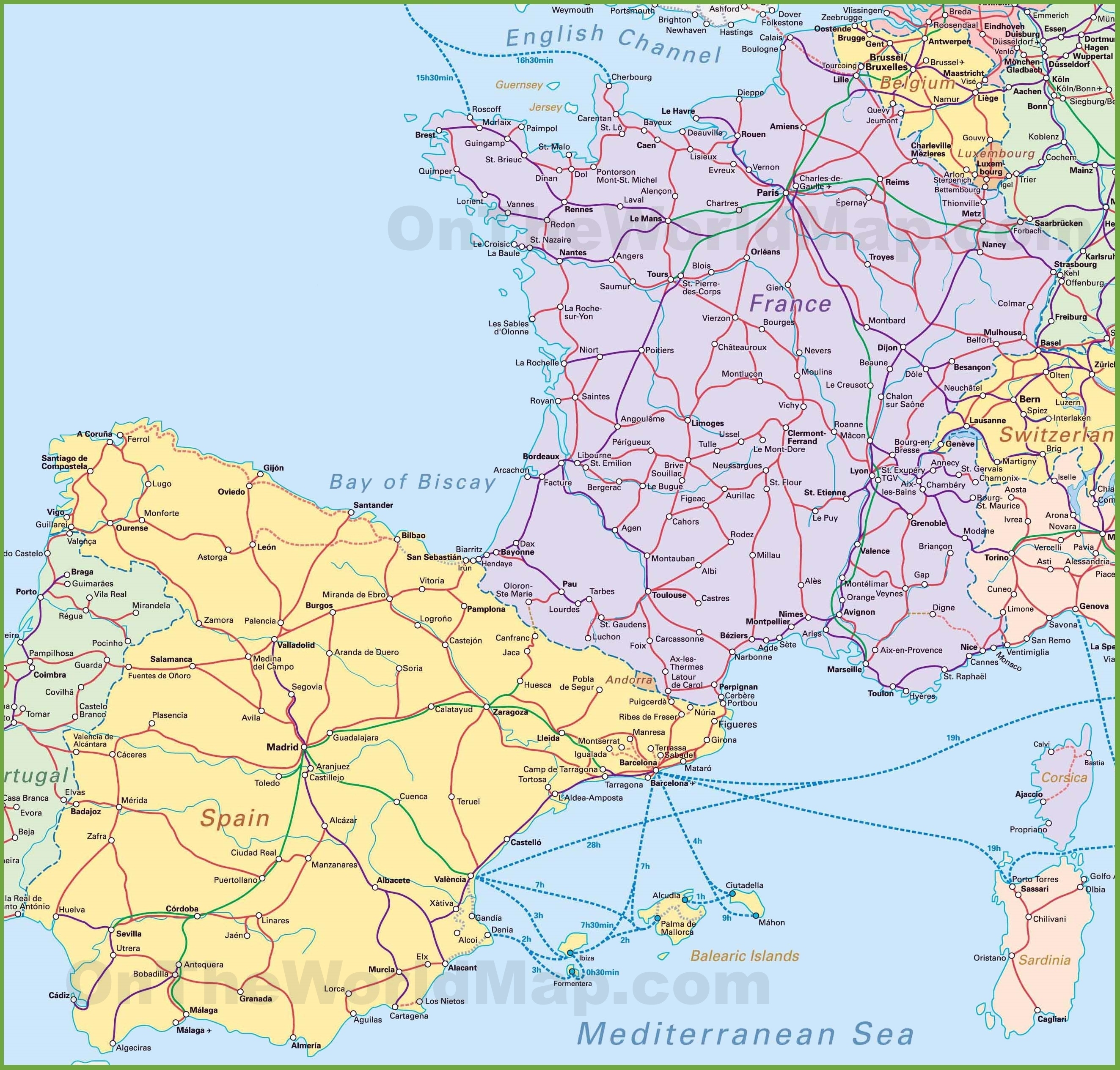Map Of Switzerland And Germany With Cities And Travel Information throughout France Germany Switzerland Map
