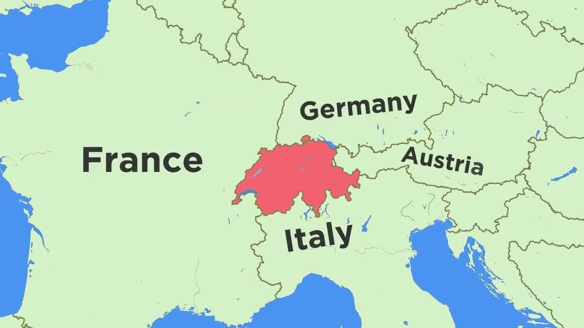Map Of Switzerland And Surrounding Countries - Map Of Switzerland with Map Of Germany And Surrounding Countries