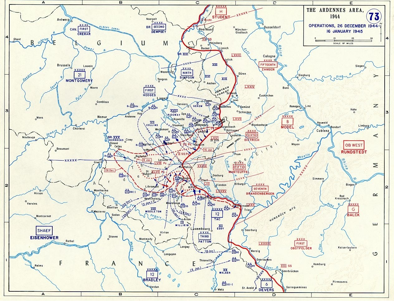 Map Of The Ardennes Area During The Battle Of The Bulge (December regarding Ww2 German Maps For Sale