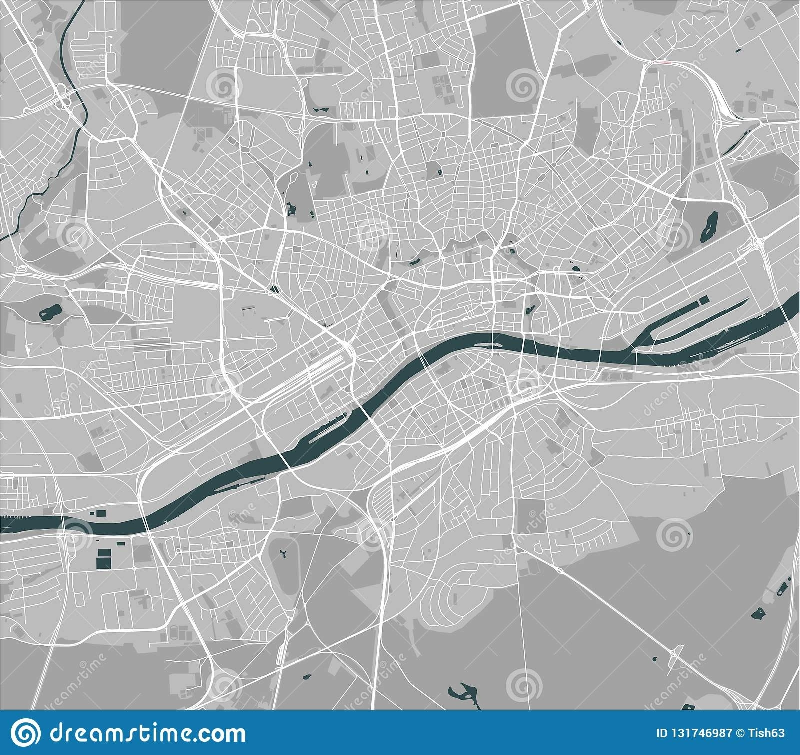 Map Of The City Of Frankfurt Am Main, Hesse, Germany Stock Vector intended for Frankfurt Am Main Germany Map