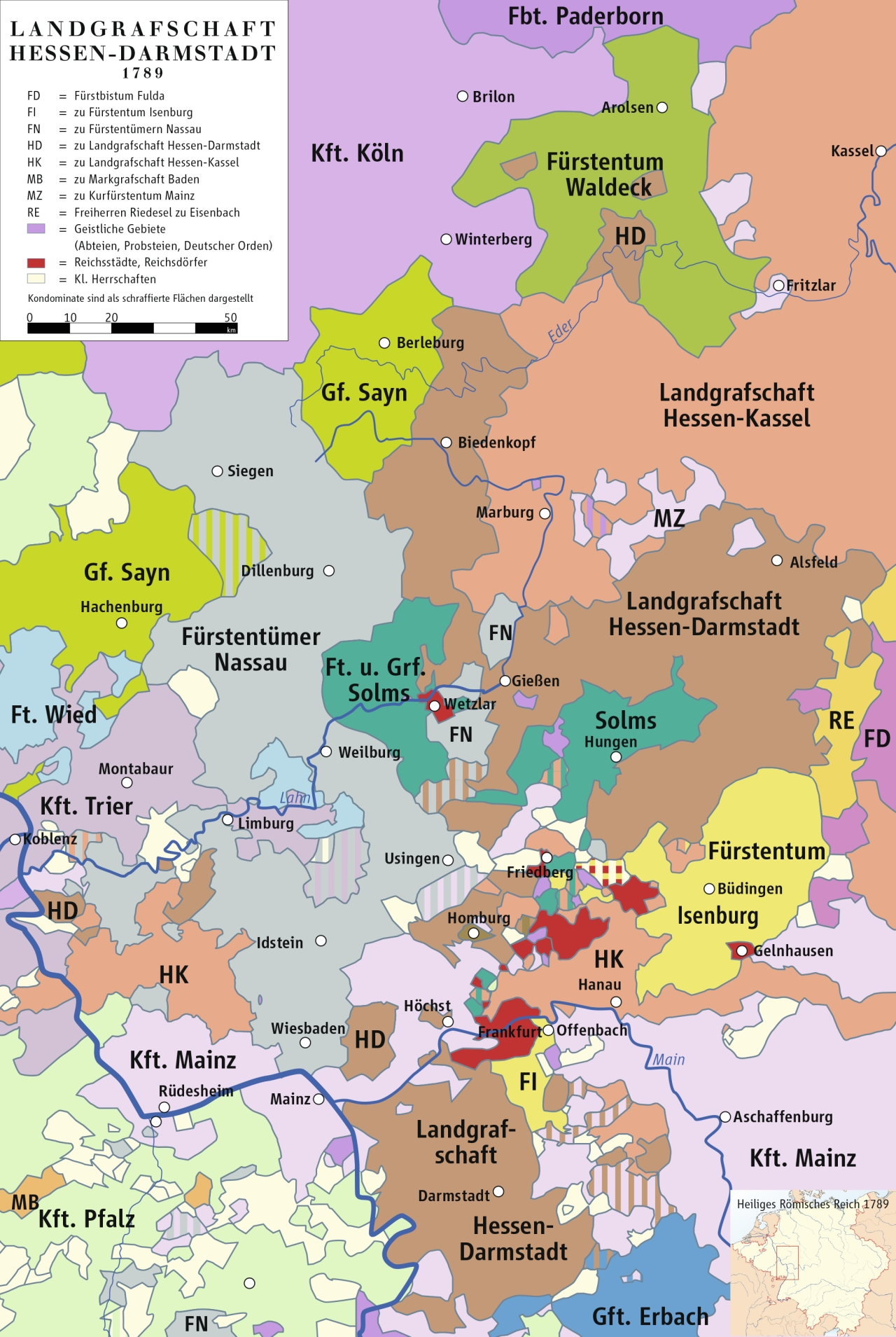 Map Of The Landgraviate Of Hesse-Darmstadt And Surrounding within Darmstadt Hessen Germany Map