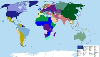 Map Of The World, 1964, According To The 1992 Novel 'fatherland with Map Of Europe If Germany Won Ww2