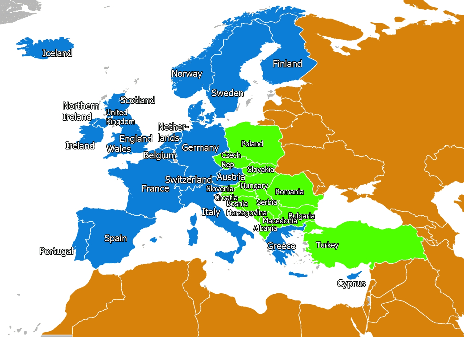 Map Of Western Europe   Map Of Europe   Europe Map with Map Of East Germany During Cold War