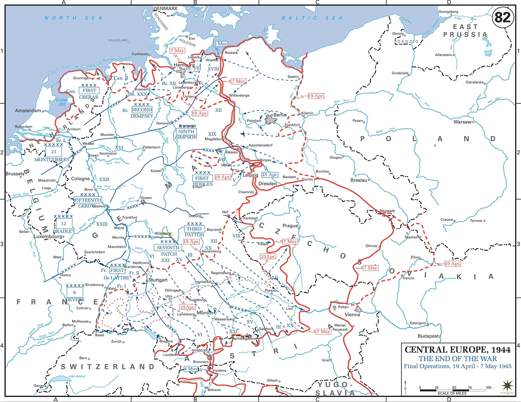 Map Of Wwii: Germany May 1945 for Map Of Germany After Ww2