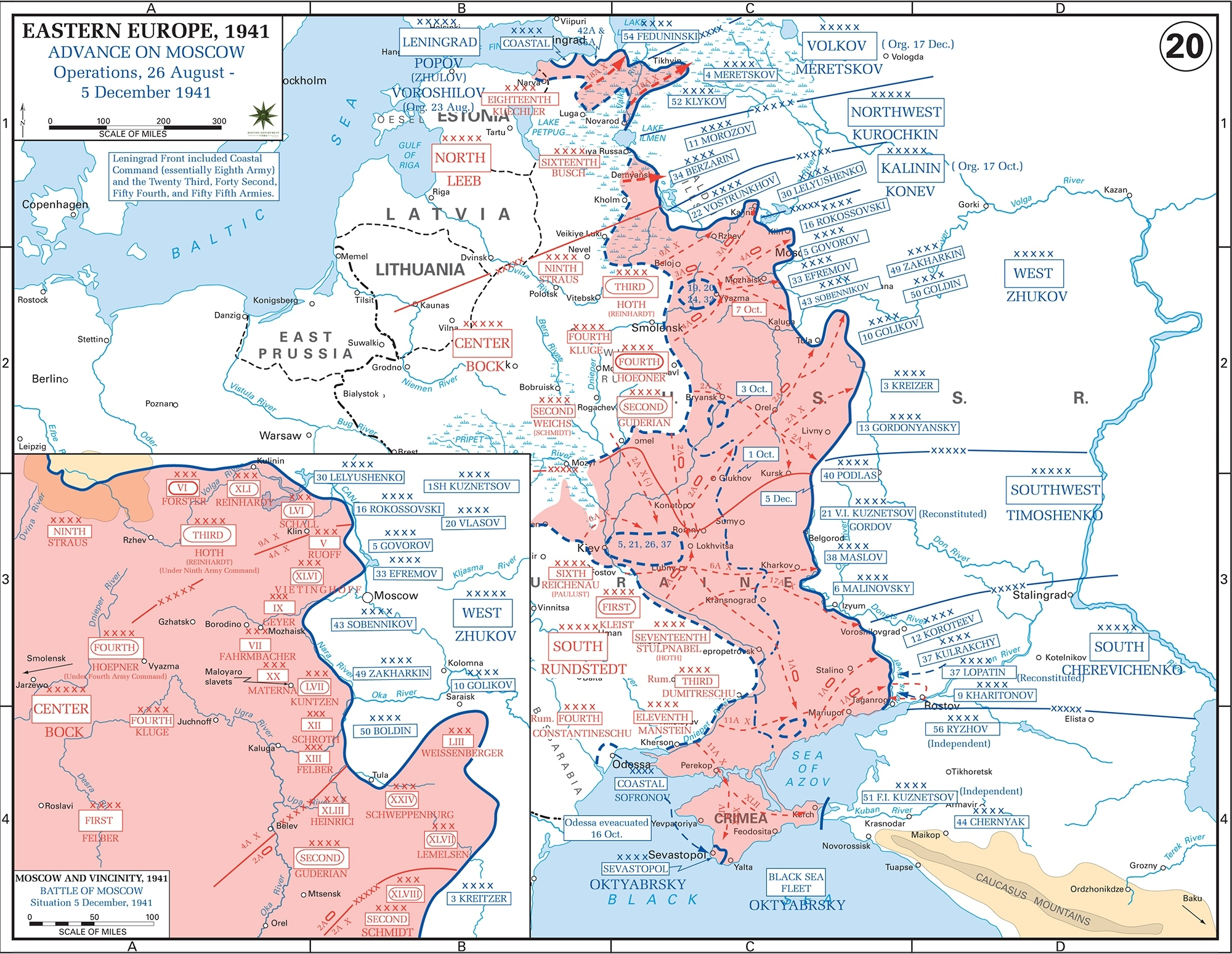 Map Of Wwii: Russia August-December 1941 within Map German Occupation During Ww2