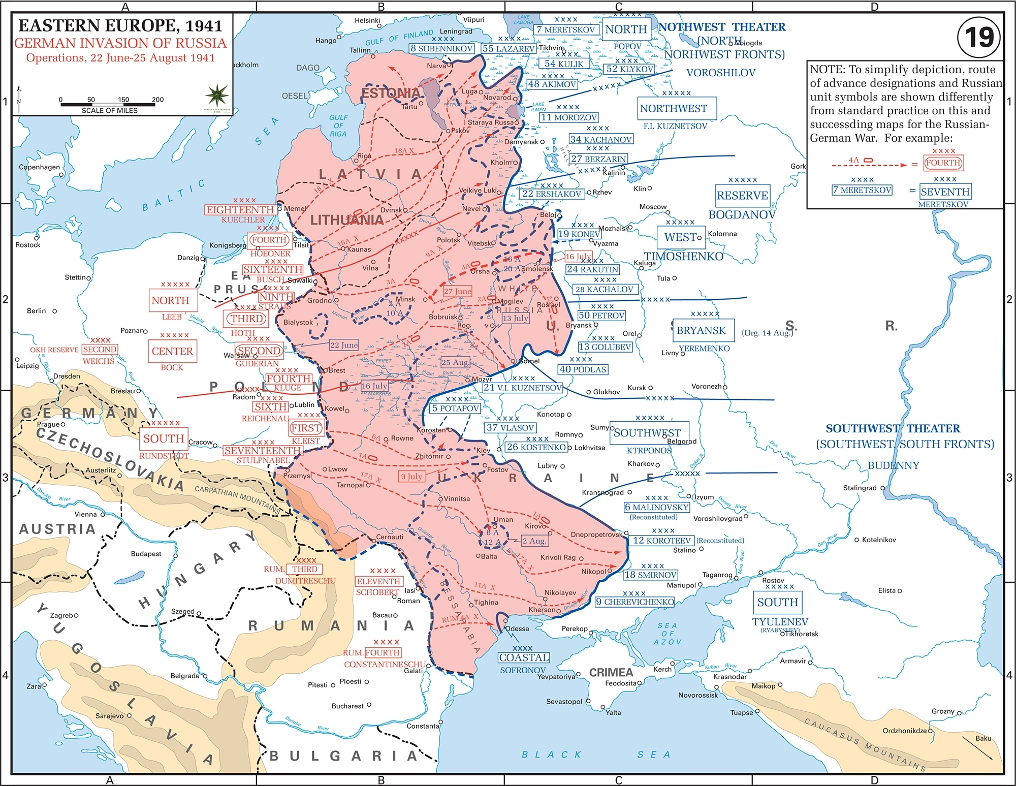 Map Of Wwii: Russia June-August 1941 throughout Map Of German Invasion Ww2