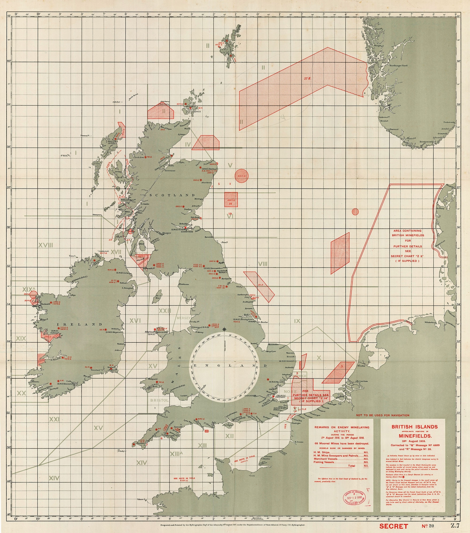 Mapping World War I Sea Mines Off The British Isles   Worlds intended for Ww2 German Maps Of Britain