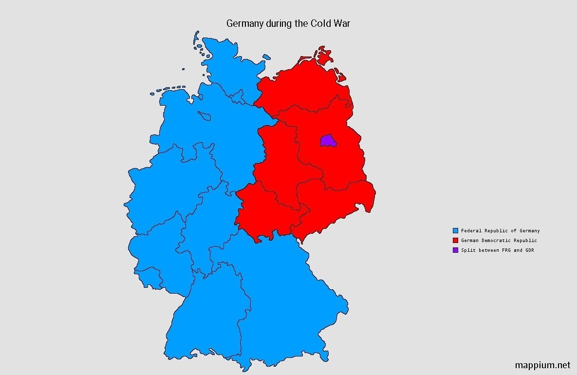 """Mappium Maps On Twitter: """"german States During The Cold War #maps regarding Cold War Germany Map"""