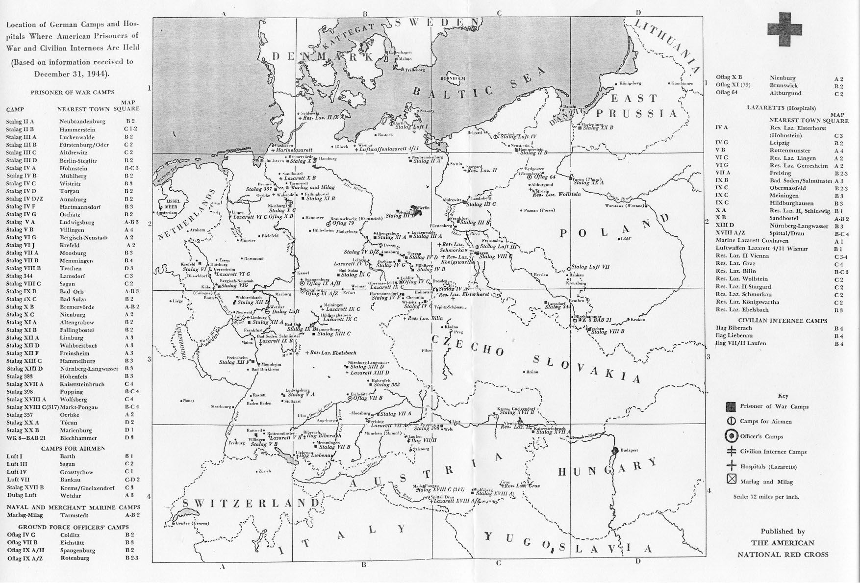 Maps Of German World War Ii Prisoner Of War Camps with regard to Map Of Germany During World War Two