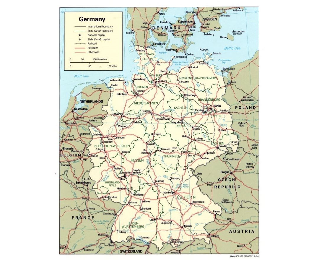 Maps Of Germany | Collection Of Maps Of Germany | Europe | Mapsland inside Detailed Map Of East Germany