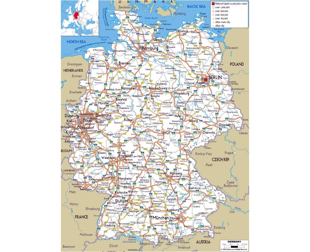 Maps Of Germany | Collection Of Maps Of Germany | Europe | Mapsland pertaining to East Germany Map With Cities