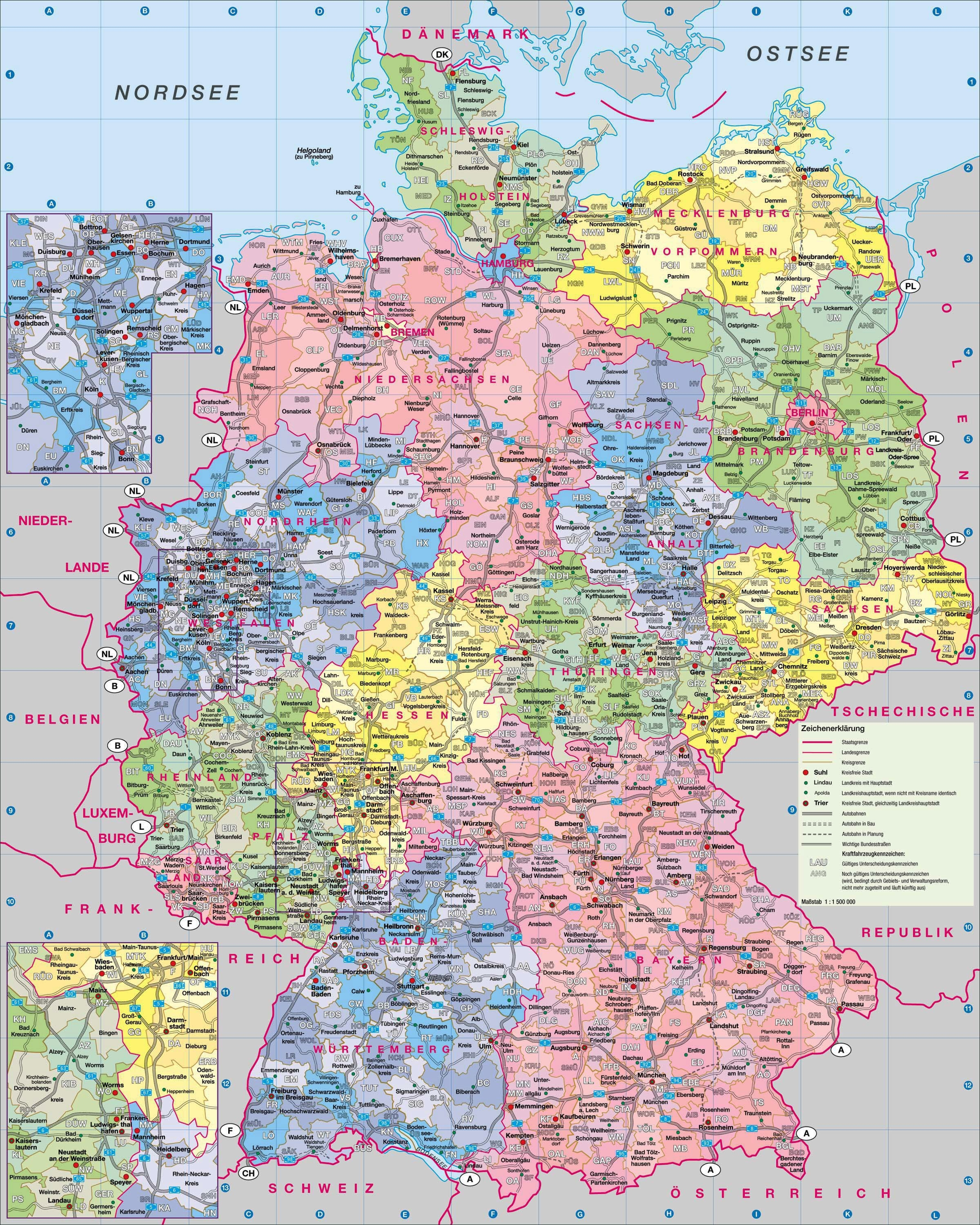 Maps Of Germany | Detailed Map Of Germany In English | Tourist Map for Road Map Of Germany In English