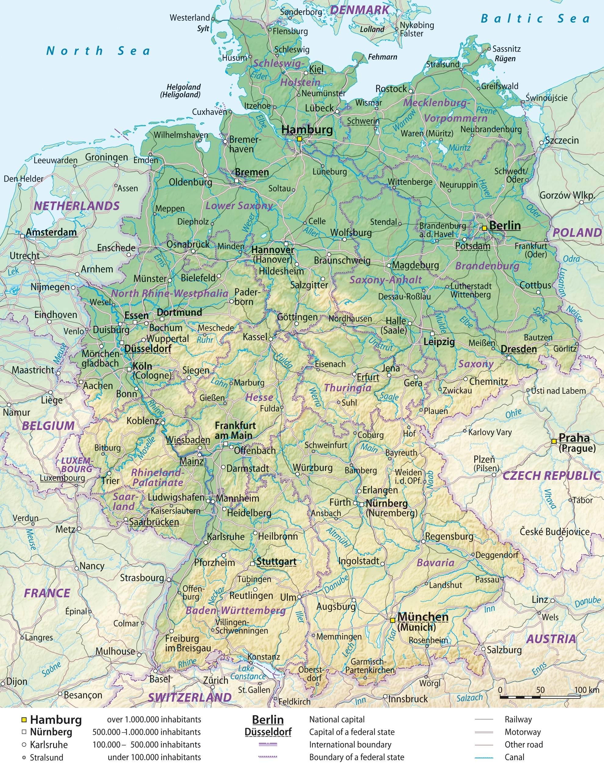 Maps Of Germany   Detailed Map Of Germany In English   Tourist Map inside Map Of Germany And Austria With Cities