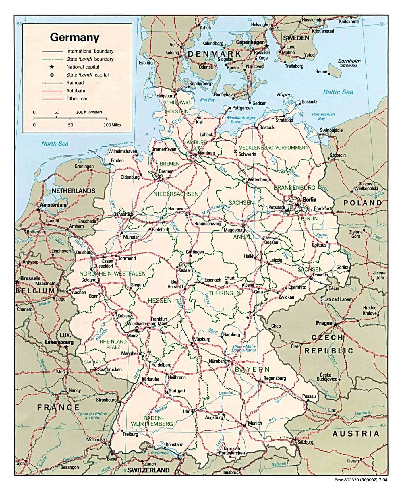 Maps Of Germany   Detailed Map Of Germany In English   Tourist Map regarding Map Of Germany In English