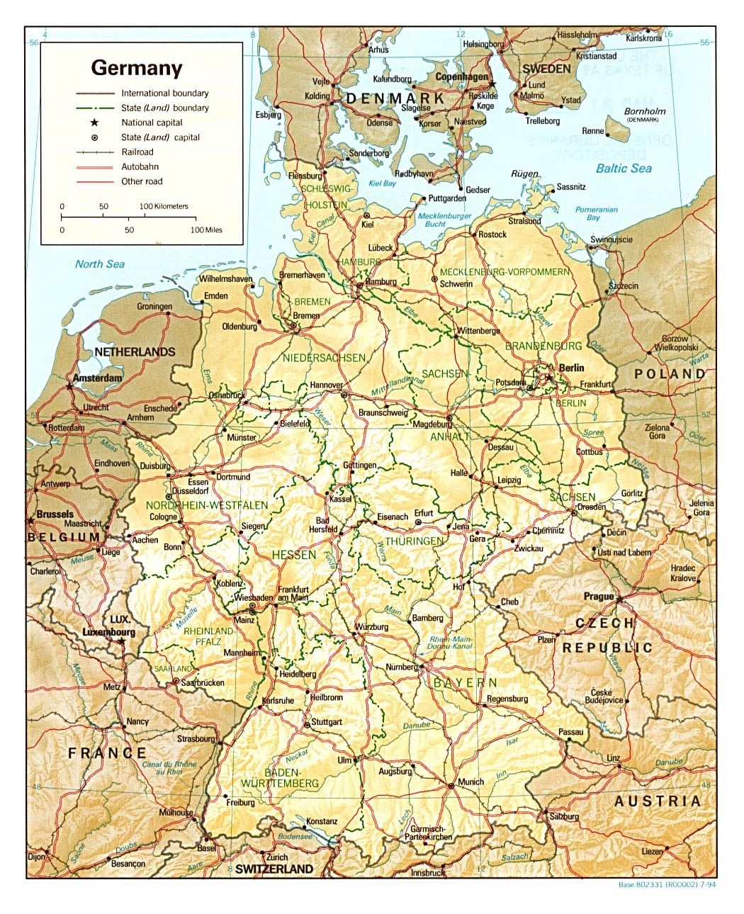 Maps Of Germany | Detailed Map Of Germany In English | Tourist Map regarding Road Map Of Germany In English