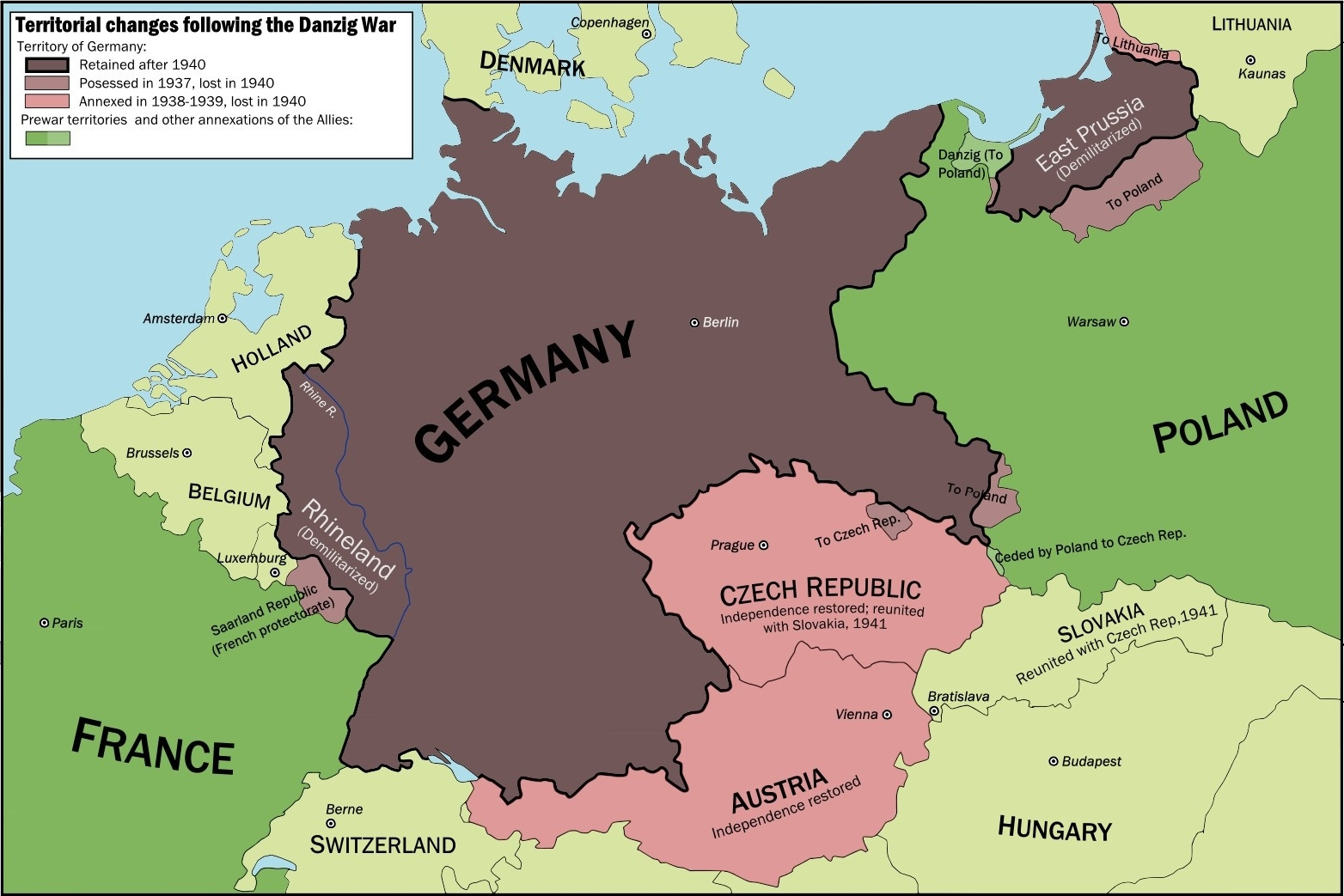 Maps Of Germany Throughout History - World Map with Maps Of Germany Throughout History
