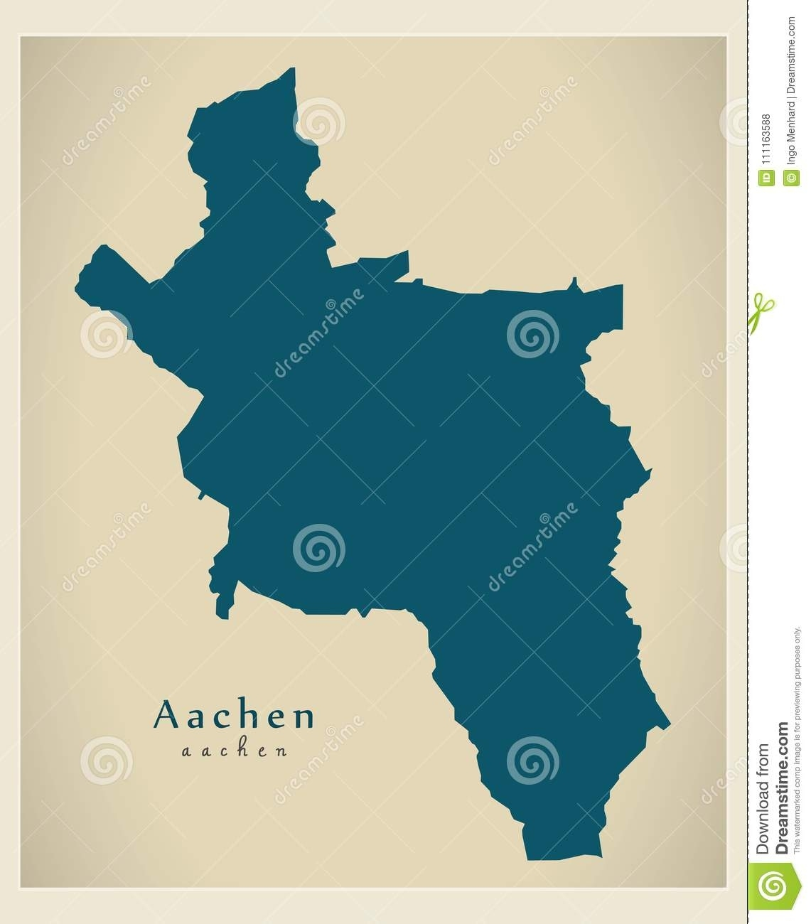 Modern Map - Aachen City Of Germany De Stock Vector - Illustration within Aachen Germany Map