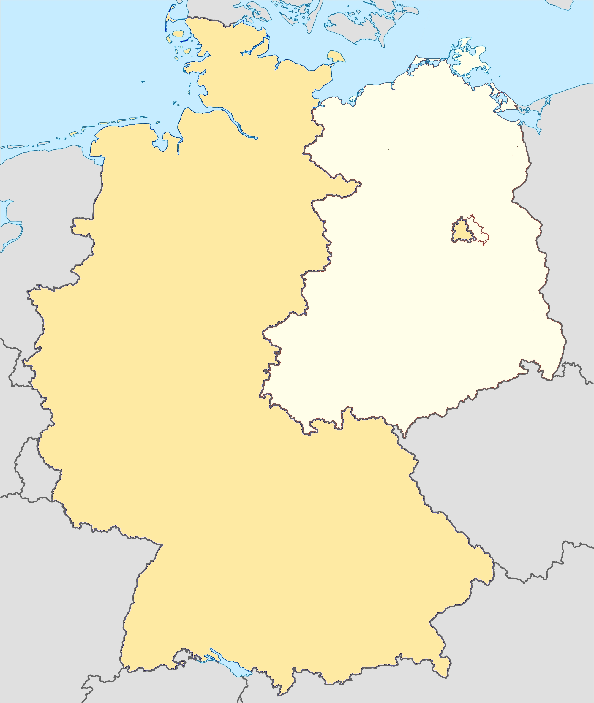 Museums Of The Inner German Border - Wikipedia intended for Cold War Germany Map