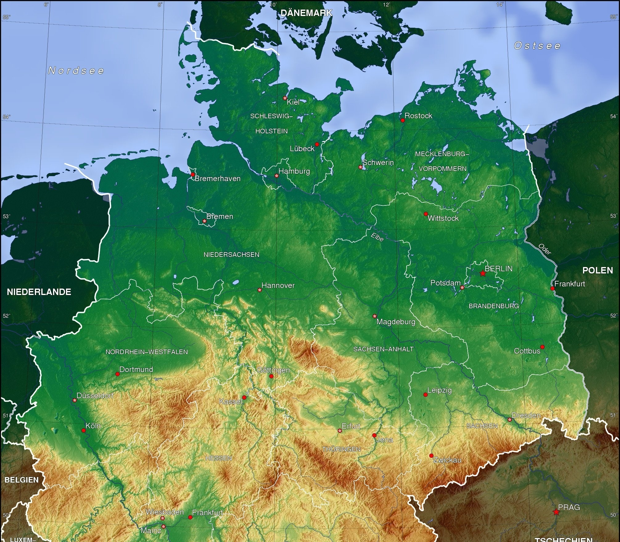 North German Plain - Wikipedia throughout Germany Geography Map
