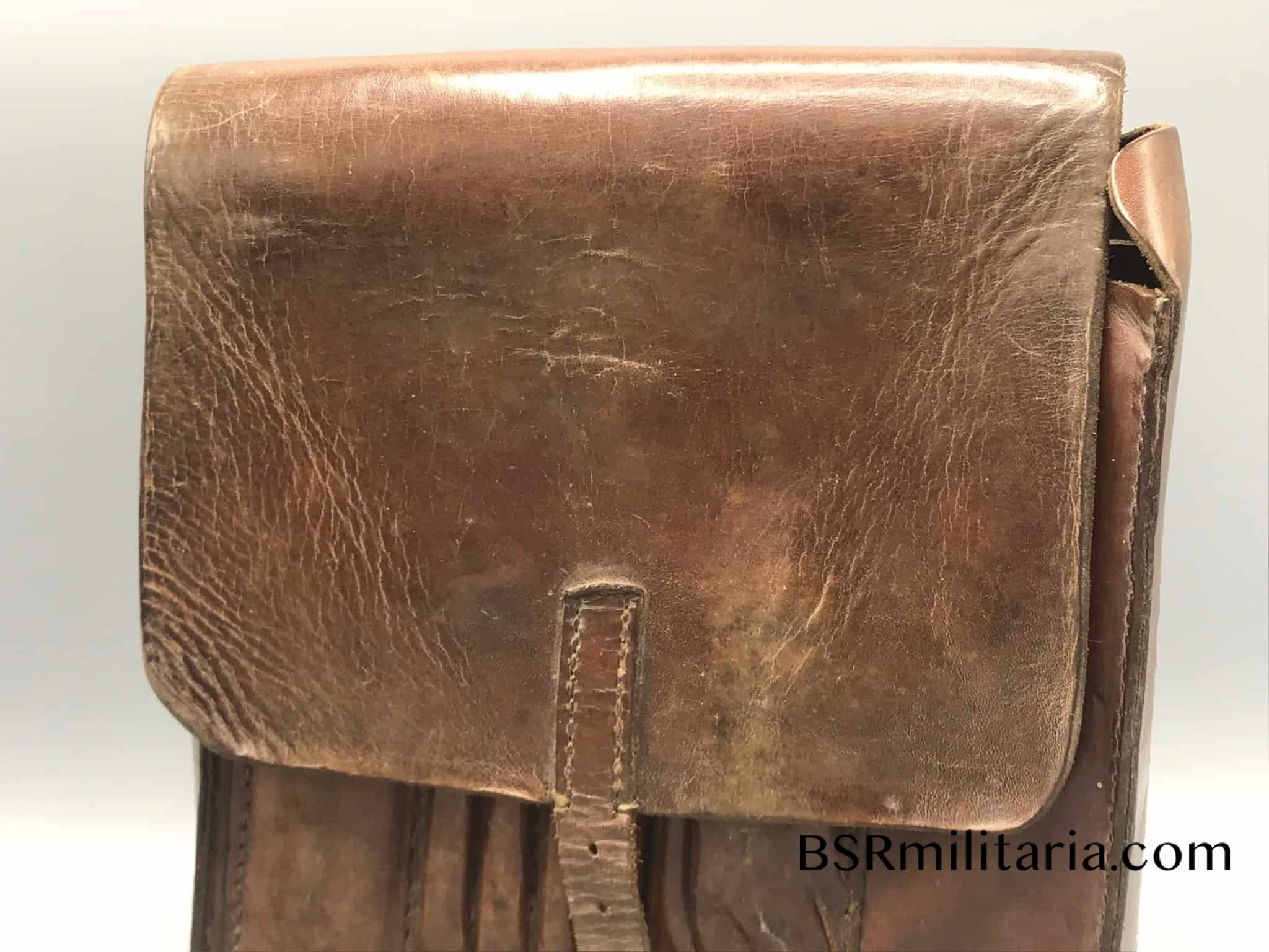 Original German Wwii Leather Map Case intended for German Leather Map Case