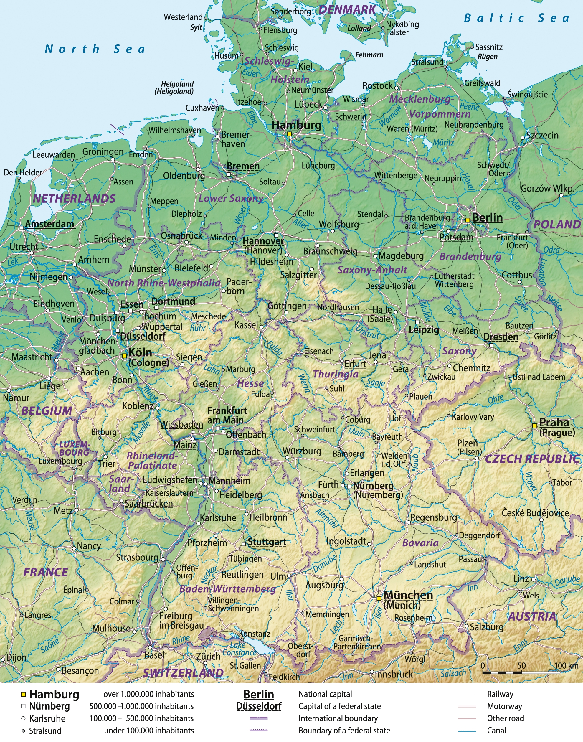 Outline Of Germany - Wikipedia throughout Germany Geography Map