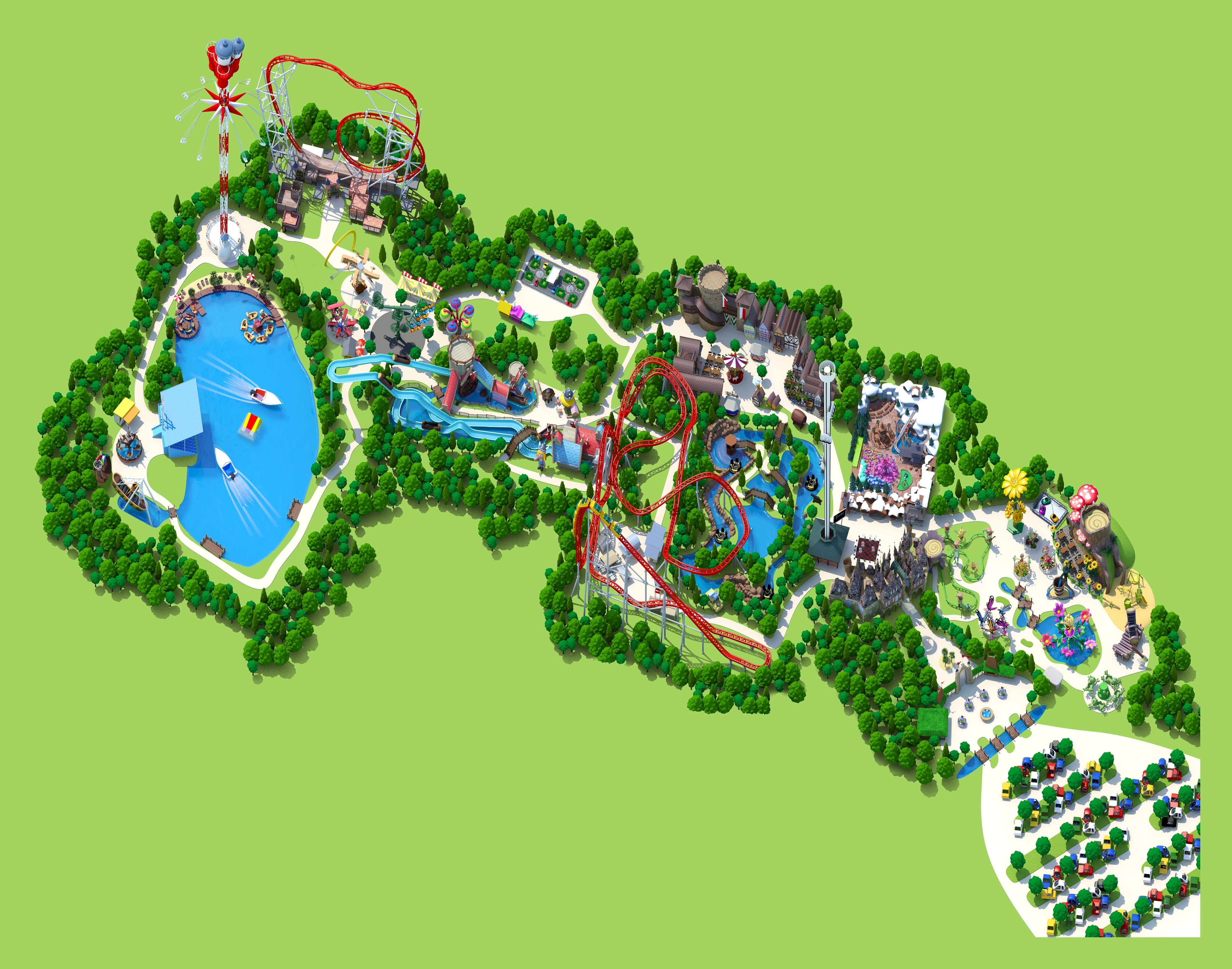 Park Map | Holiday Park intended for Map Of Europa Park Germany