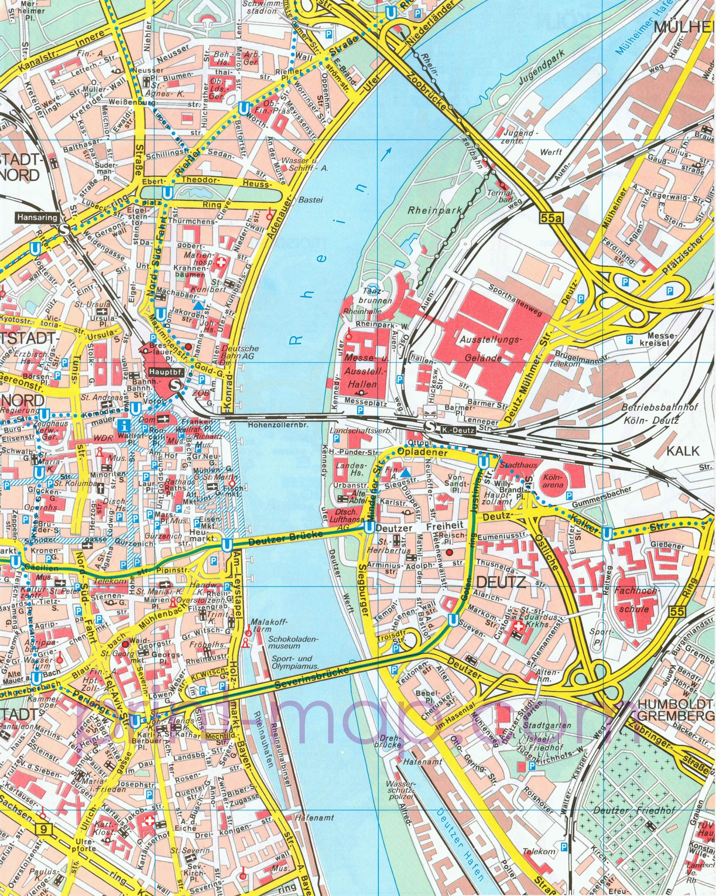 Pdf Map Of Cologne Germany   Tourism   Cologne Germany, Germany, Map with Map Of Cologne Germany Area
