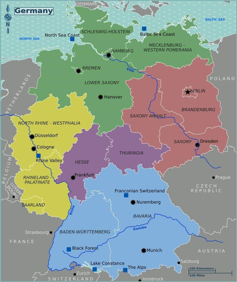 Pinursula Swartz On Pictures Of German Towns In 2019   Germany inside Map Of Germany In English