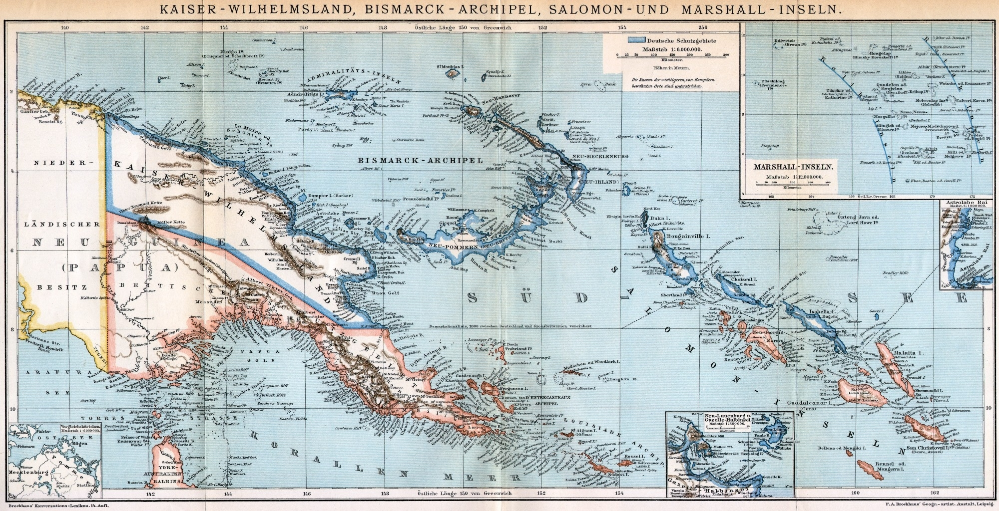 Pngaa throughout German New Guinea Map