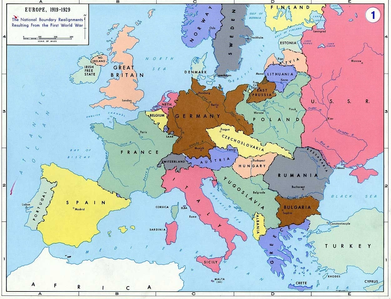 Pre- World War Ii: Here Are The Boundaries As A Result Of The First with Map Of Germany Pre Ww2