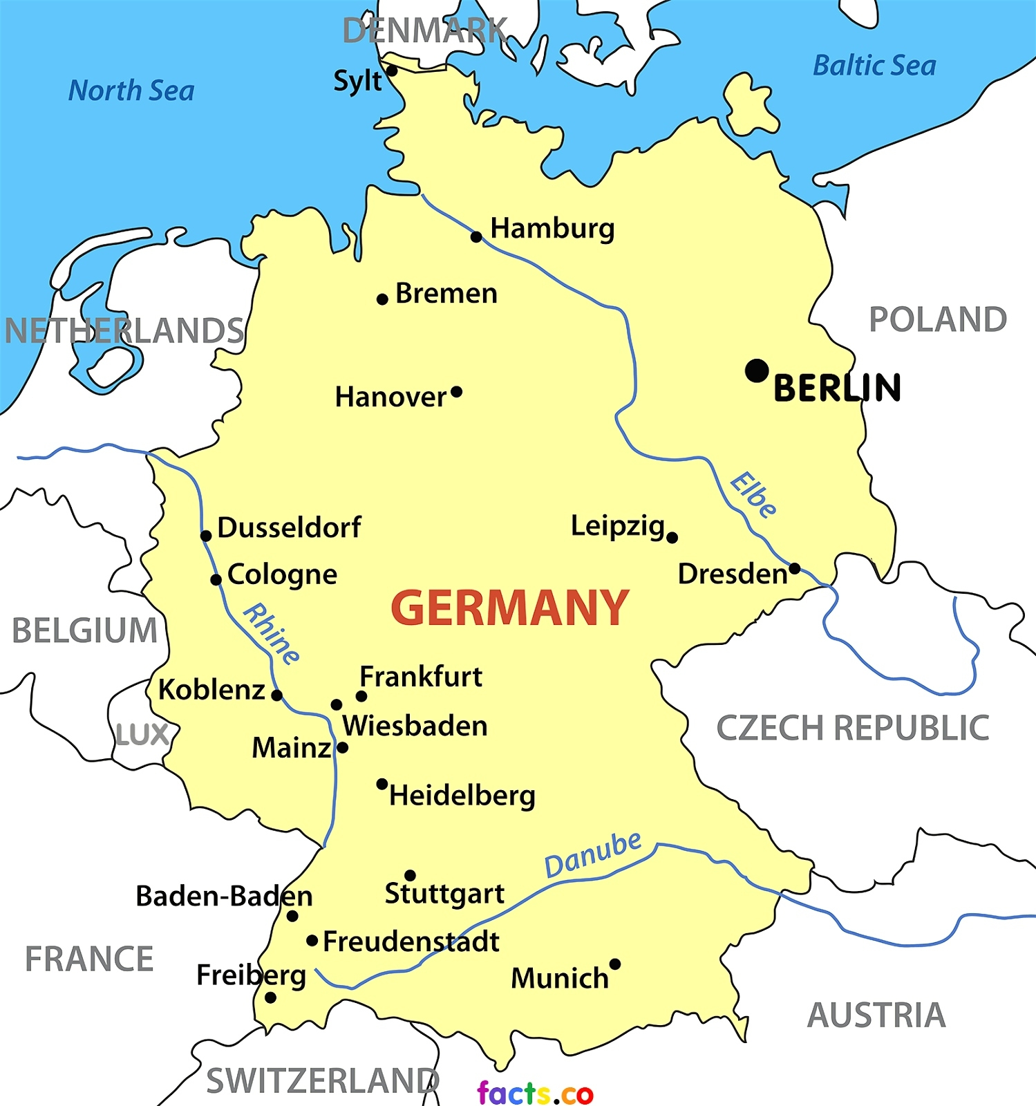 Printable German Map And Travel Information   Download Free with Germany Map Download Free