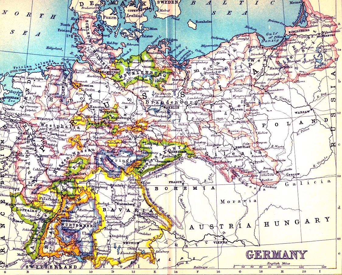 Railways In War - Part 2 - German State Railway Preparations For in Map Of Germany Before Ww1
