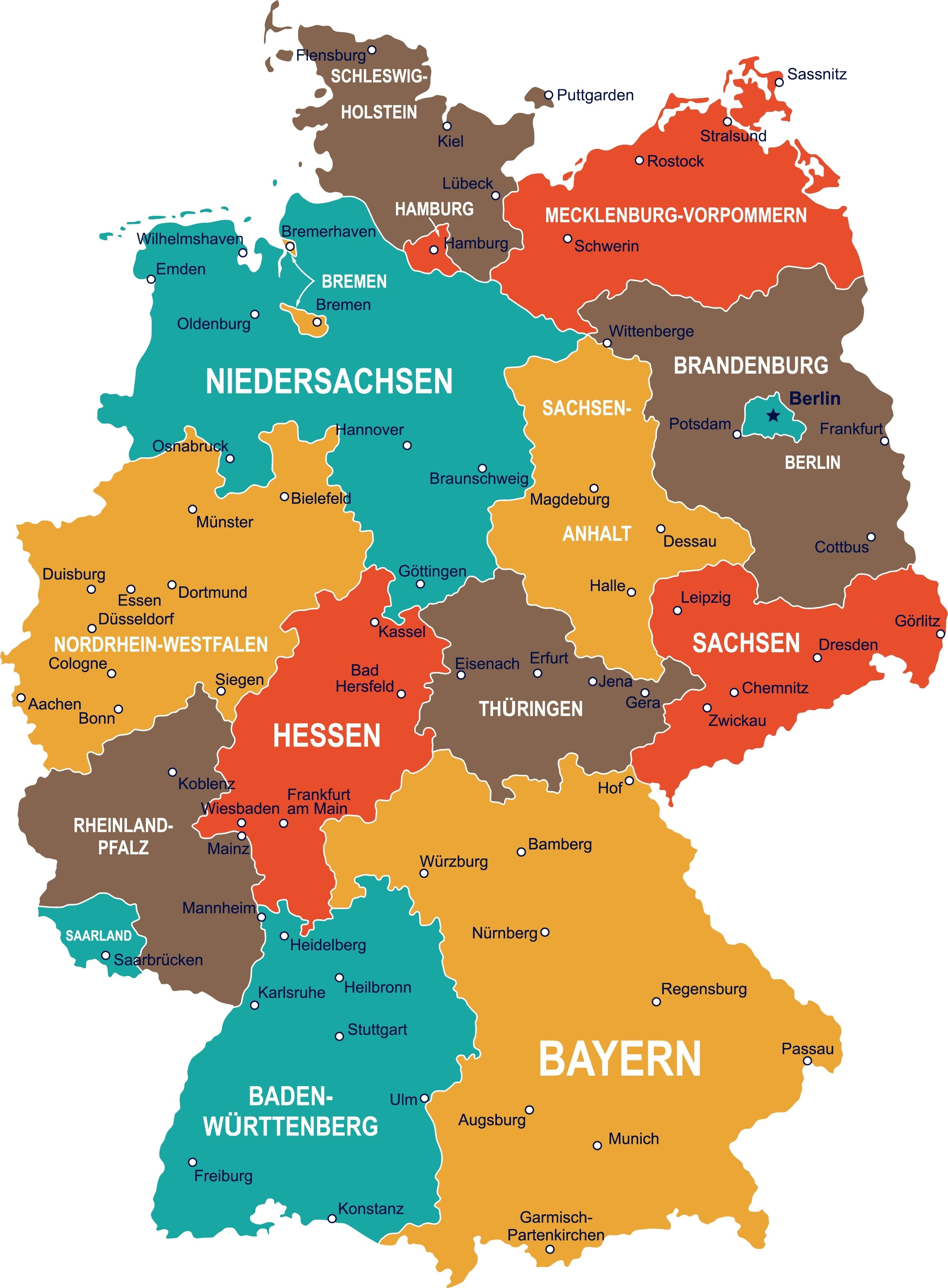 Regional Day Tickets: Discover Germany's Regionstrain   Db for Erlangen Germany Map