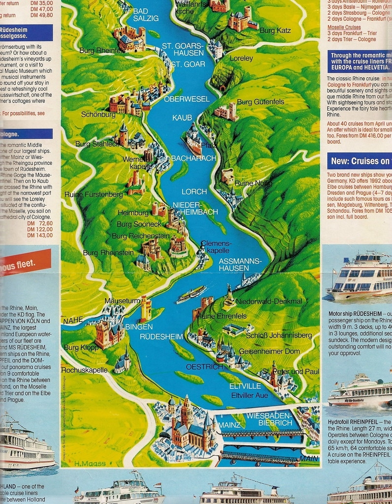 Rhine River Cruise Map   The Brochure Included A Map Of The …   Flickr with Rhine Valley Germany Map