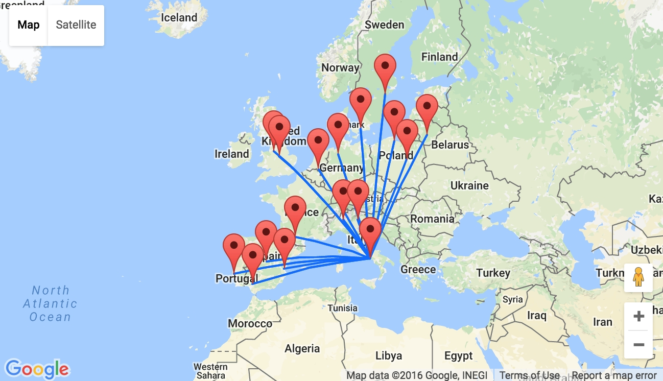 Ryanair Launches 17 New Routes From Naples, Italy! inside Ryanair Airports Germany Map