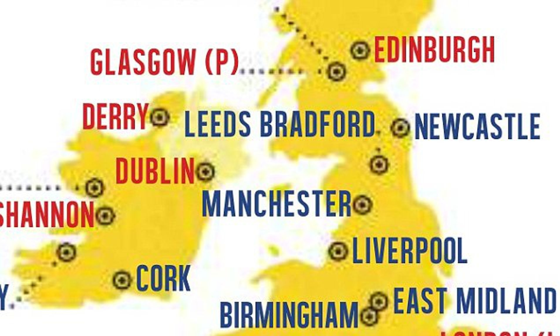 Ryanair Mocked Over Map That Places Manchester In The Lake District with Ryanair Airports Germany Map
