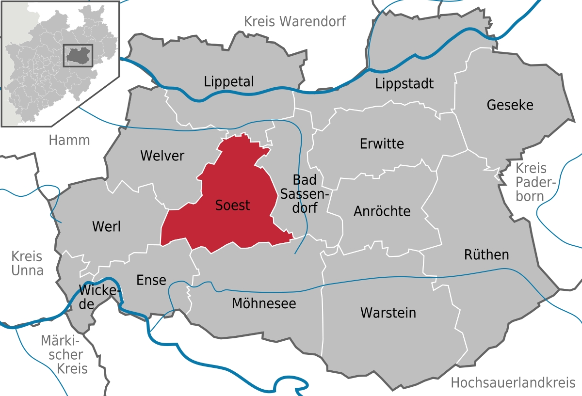 Soest, Germany - Wikipedia with regard to Where Is Dortmund Germany On The Map