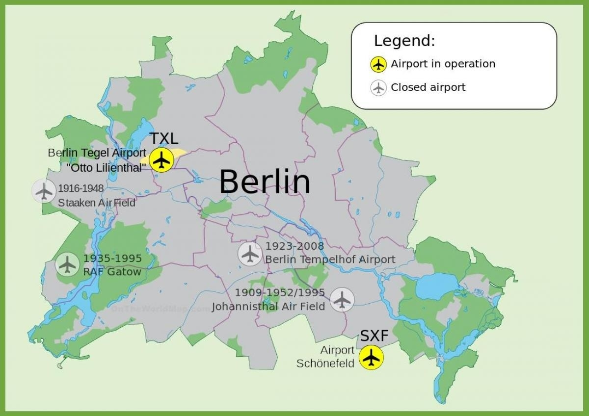 Sxf Airport Map - Berlin Sxf Airport Map (Germany) within Airports In Berlin Germany Map