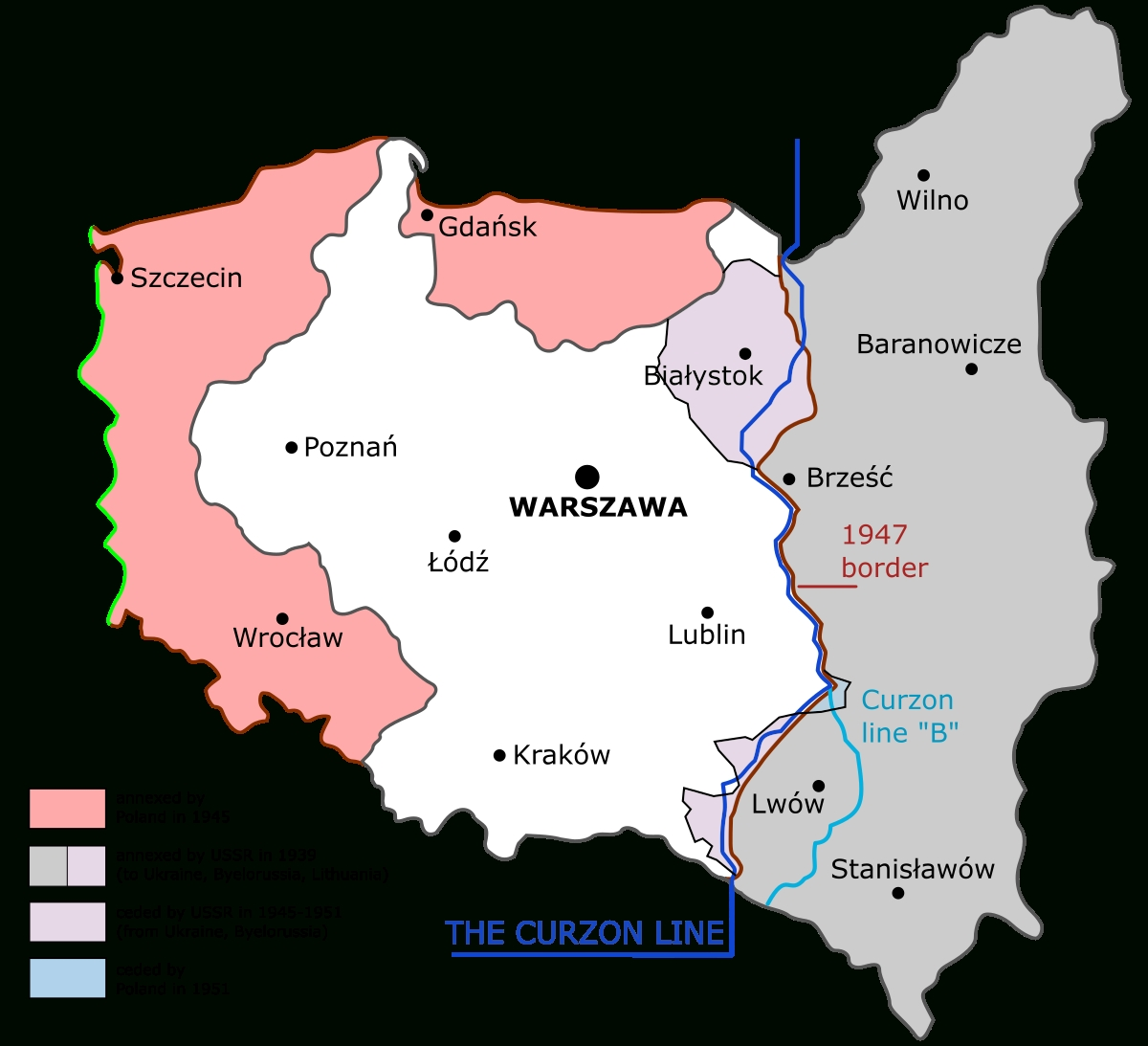 Territorial Changes Of Poland Immediately After World War Ii - Wikipedia inside German Territory Before And After Ww2