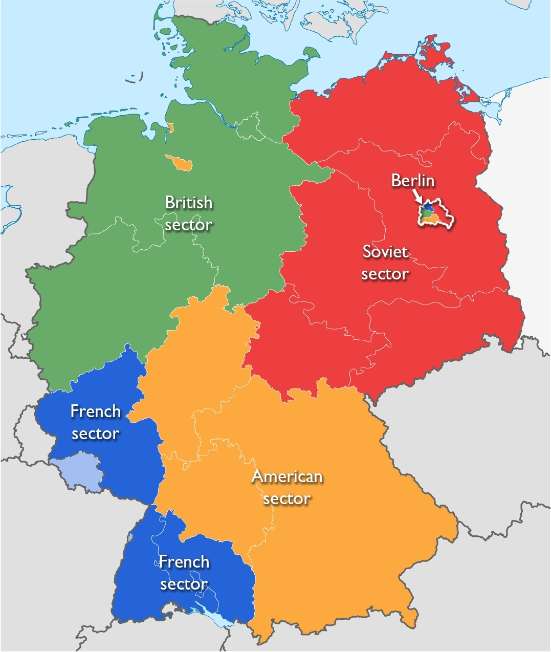The Berlin Wall As A Political Symbol – Smarthistory with regard to Map Of Germany Divided After Ww2