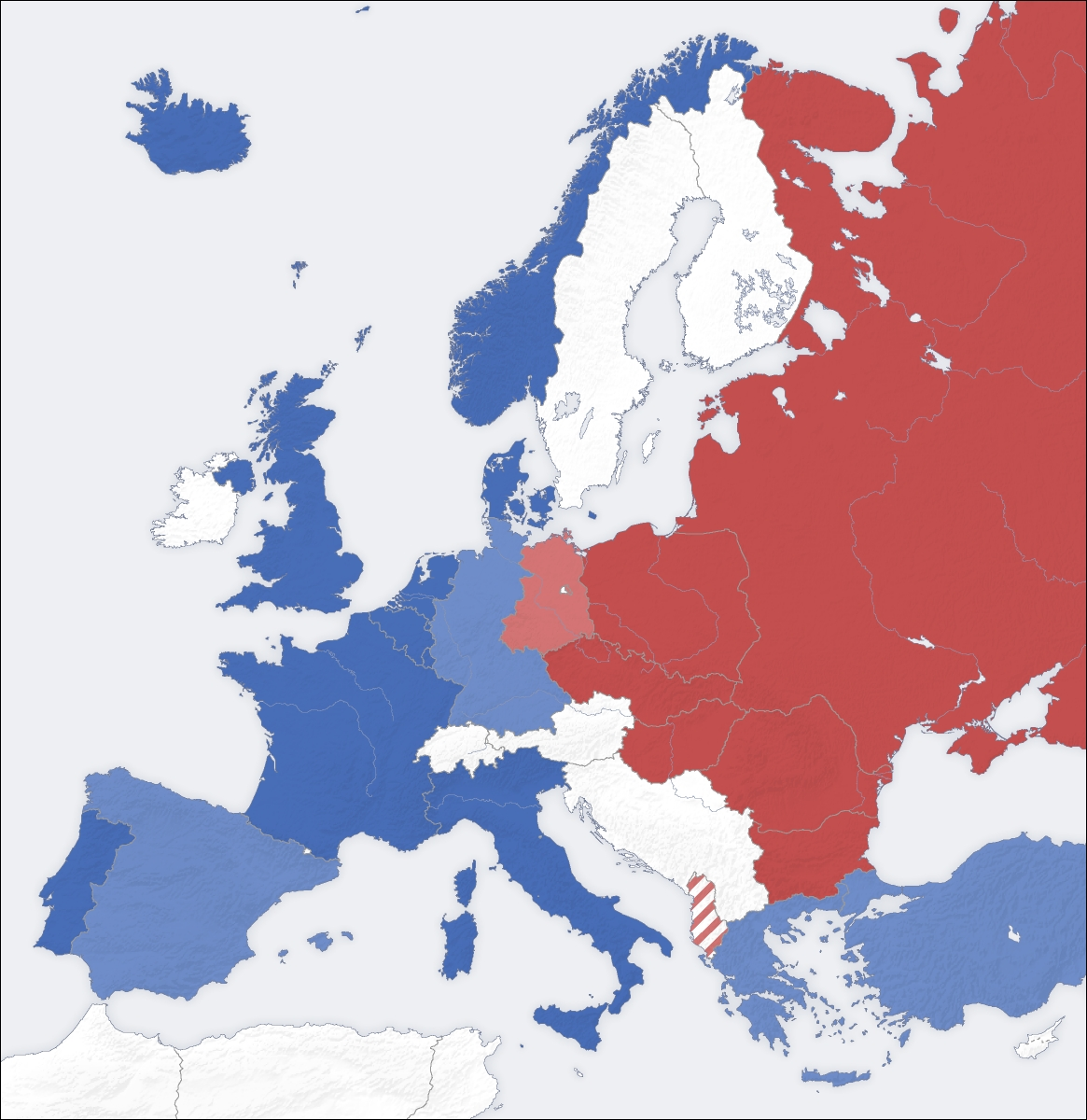 The Cold War: Causes, Major Events, And How It Ended - History within Map Of East Germany 1950
