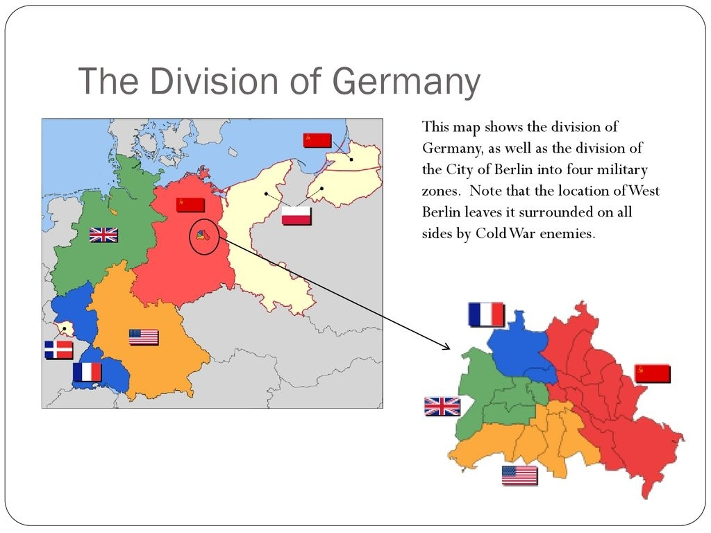 The Cold War Takes Shape - Ppt Download regarding Map Of Divided Germany During The Cold War