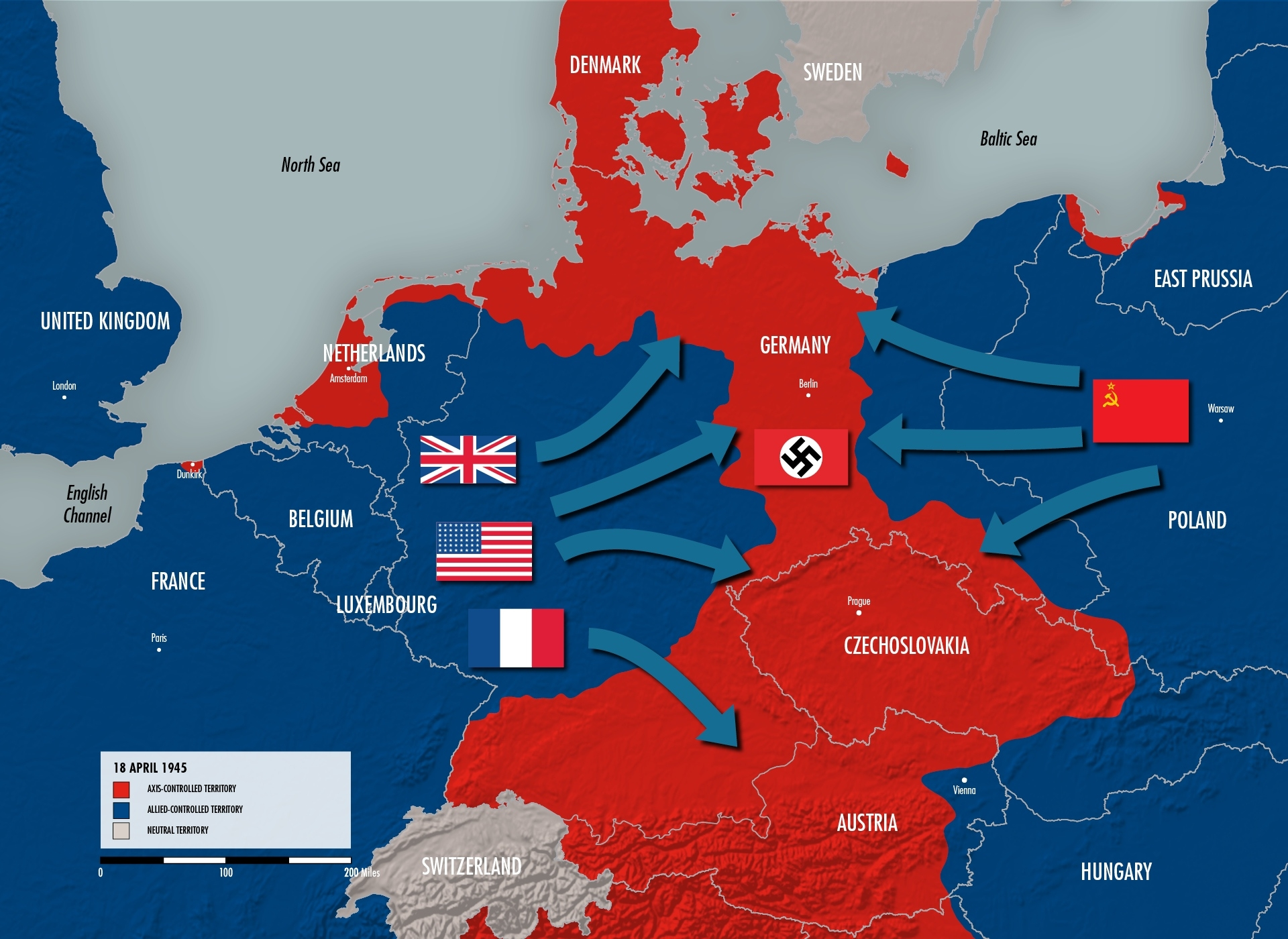 The Eastern Front | The National Wwii Museum | New Orleans with regard to Post Ww2 Germany Map