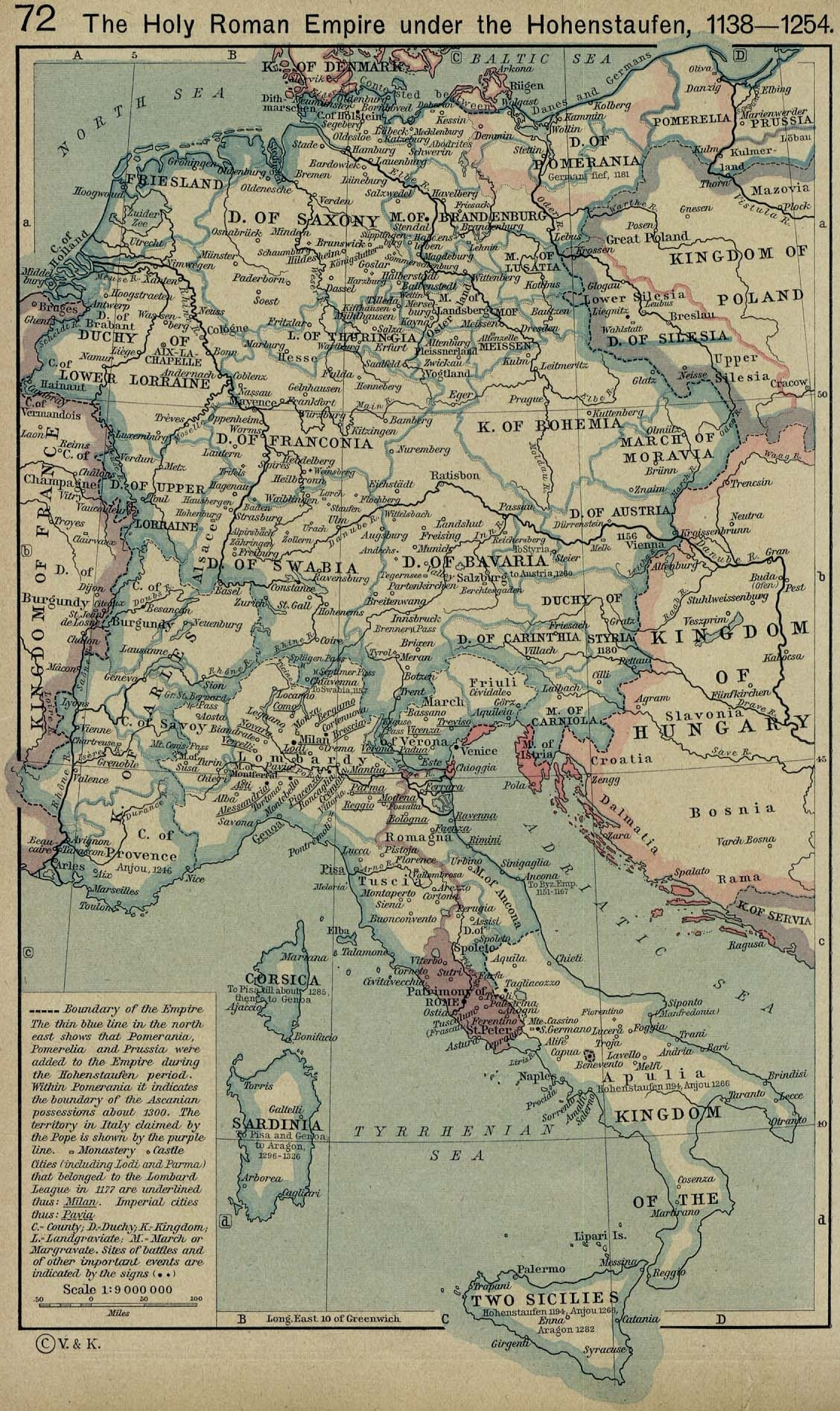 The Holy Roman Empire 1138-1254 - Full Size | Gifex pertaining to Old World Map Of Germany