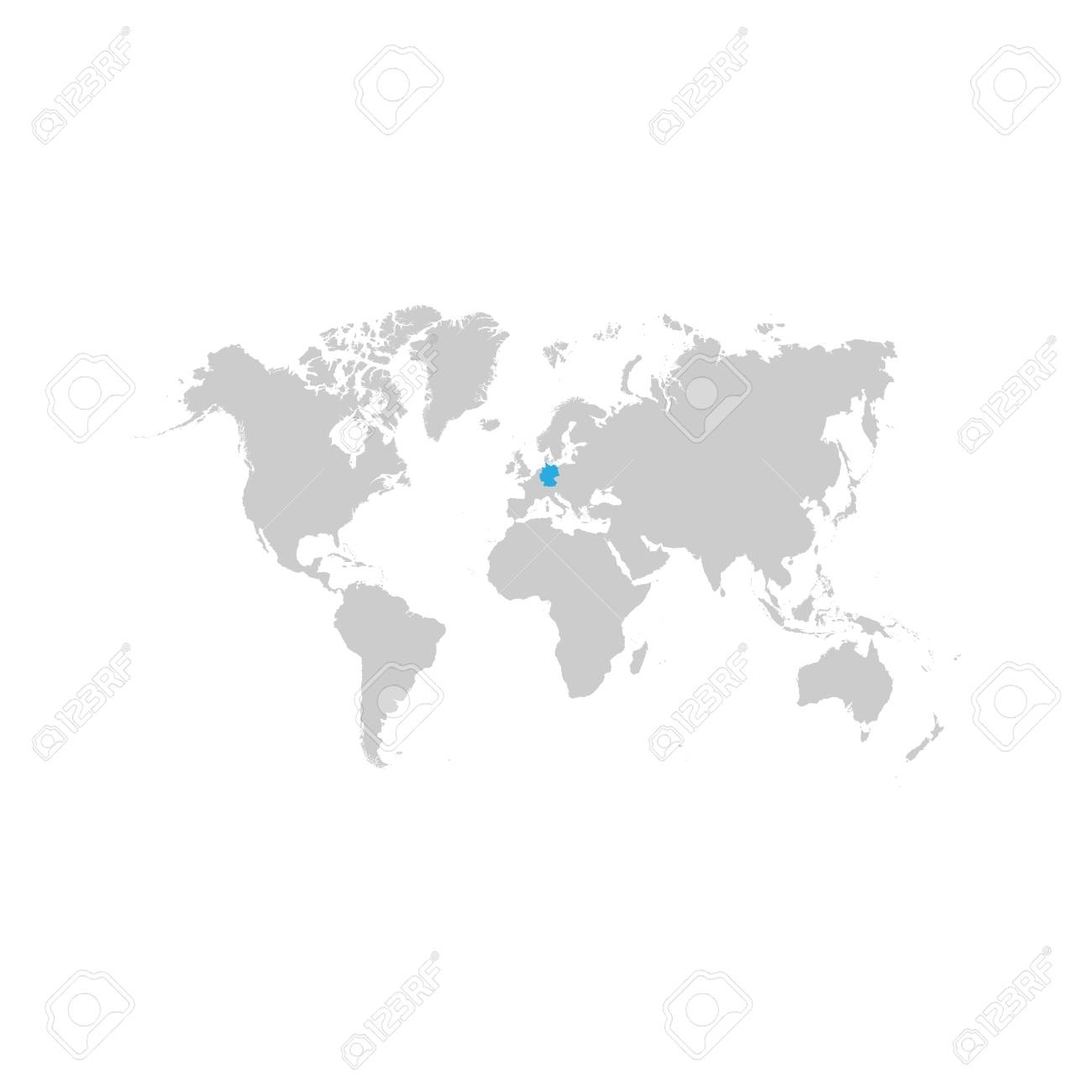 The Map Of Germany Is Highlighted In Blue On The World Map intended for World Map With Germany Highlighted