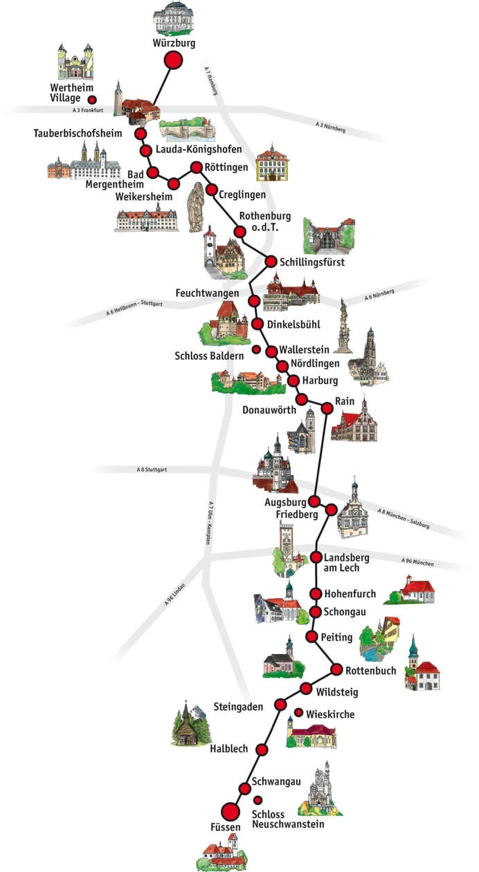 The Romantic Road Germany Travel Guide // Tips, Maps & Itinerary • in Fussen Germany Map