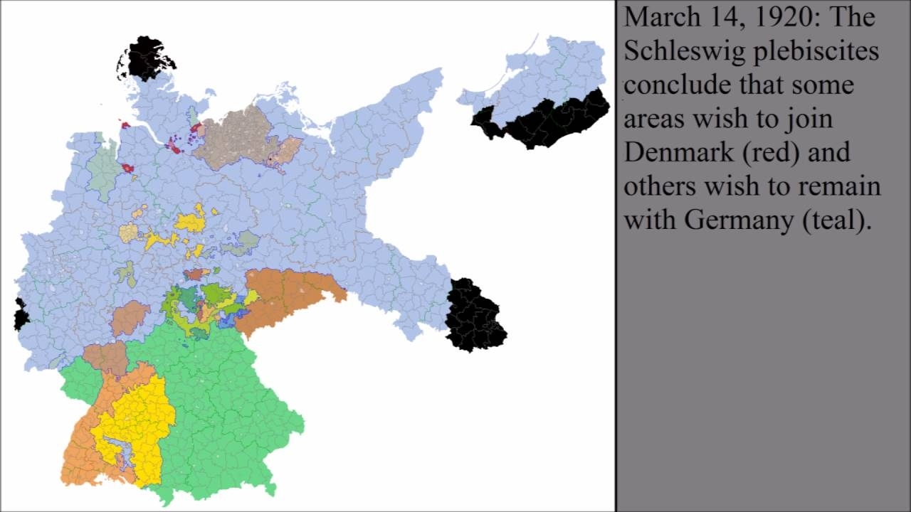 The Territorial Changes Of Germany After World War I in German Territory Before And After Ww2